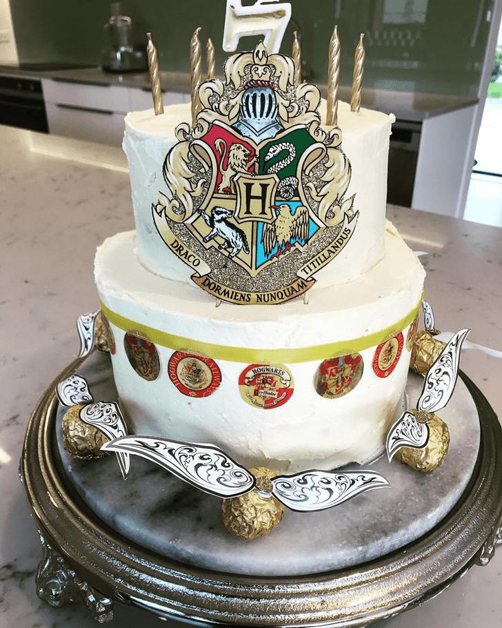 Appealing Hogwarts Cake