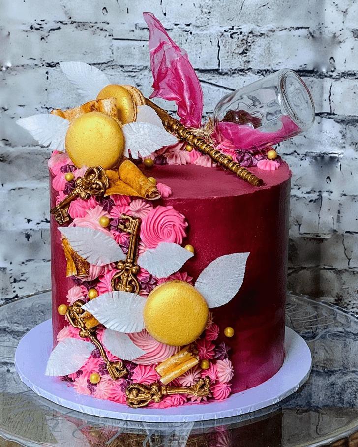 Mesmeric Hogwarts Cake