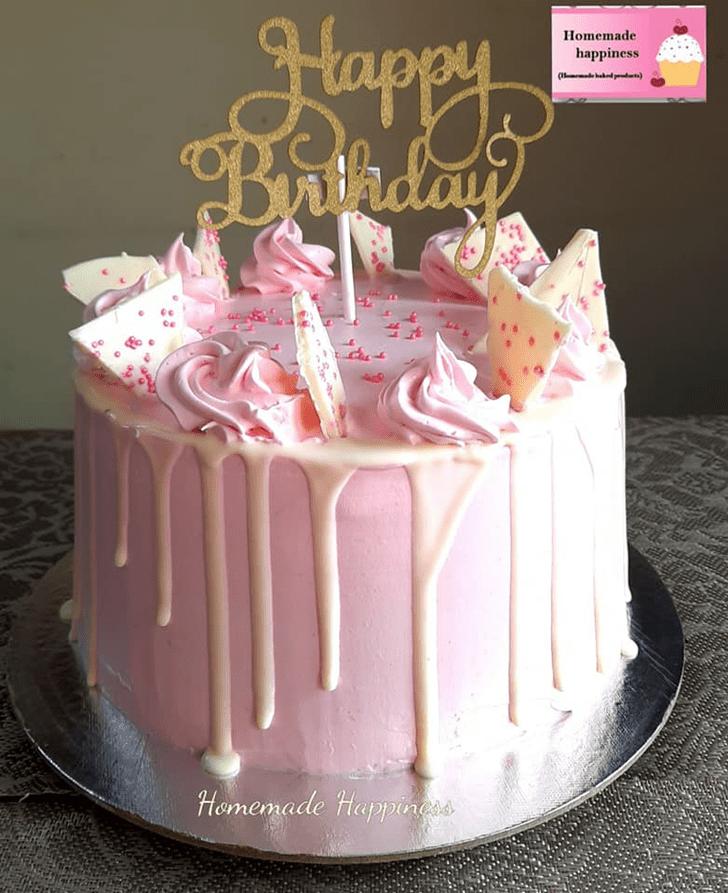 Cute Homemade Happiness Cake