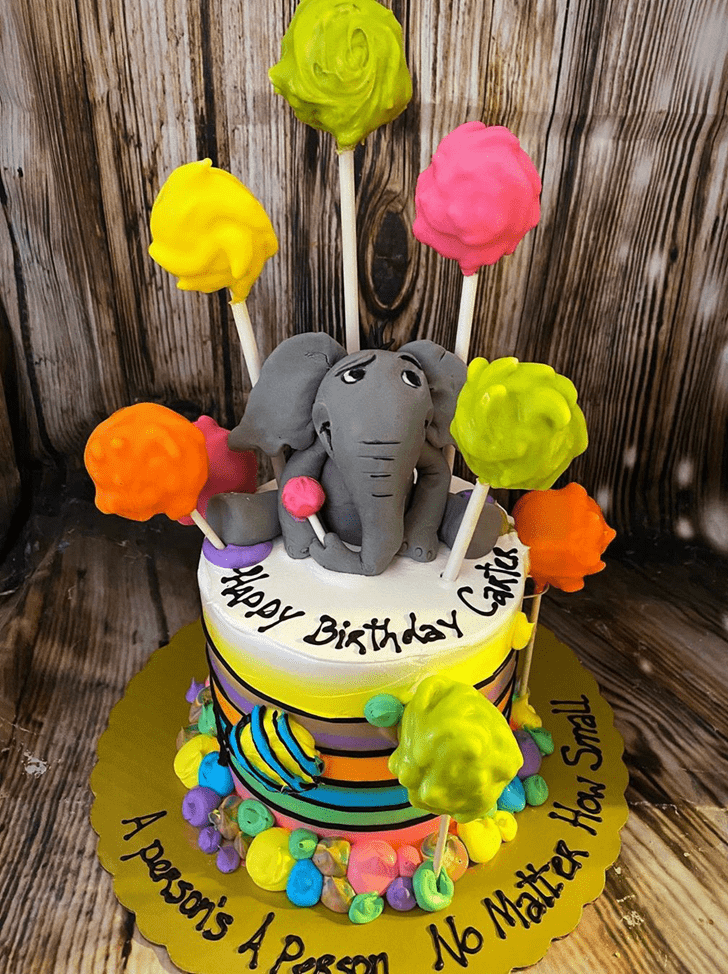 Slightly Horton Hears a Who Cake