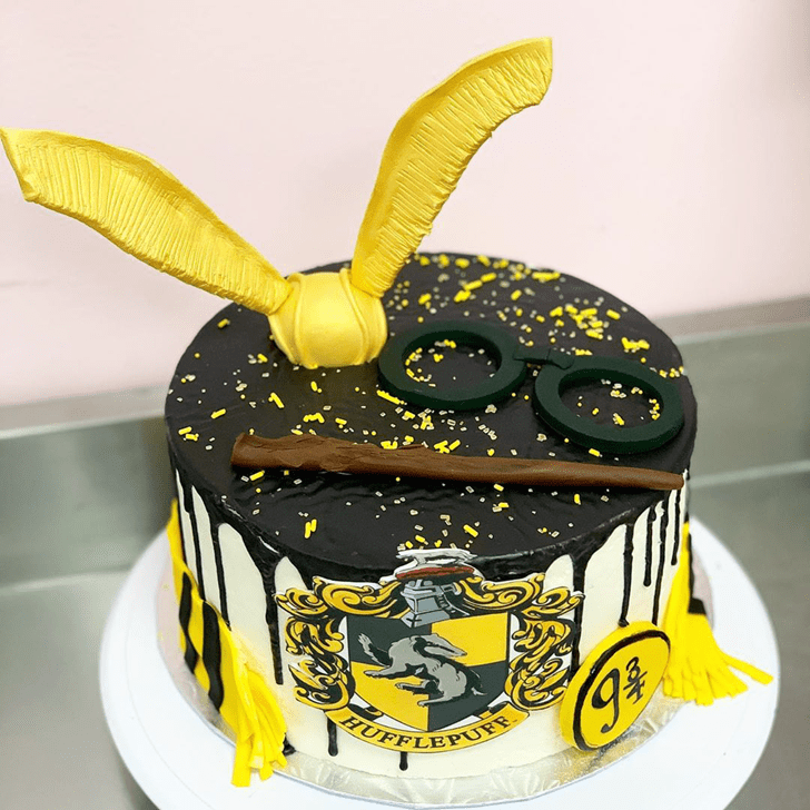 Adorable Hufflepuff Cake