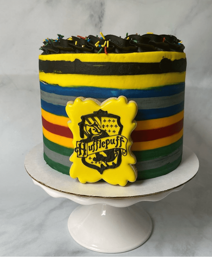 Captivating Hufflepuff Cake