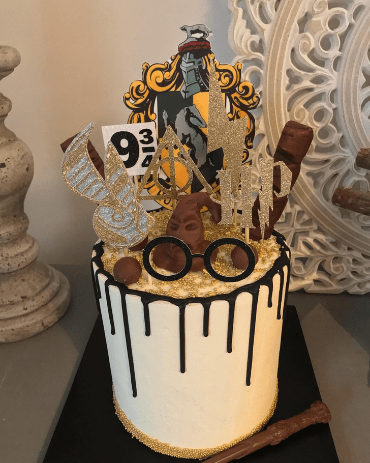 Charming Hufflepuff Cake