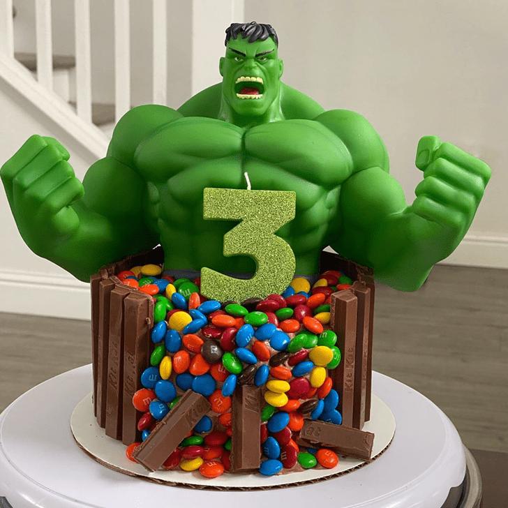 Adorable Hulk Cake