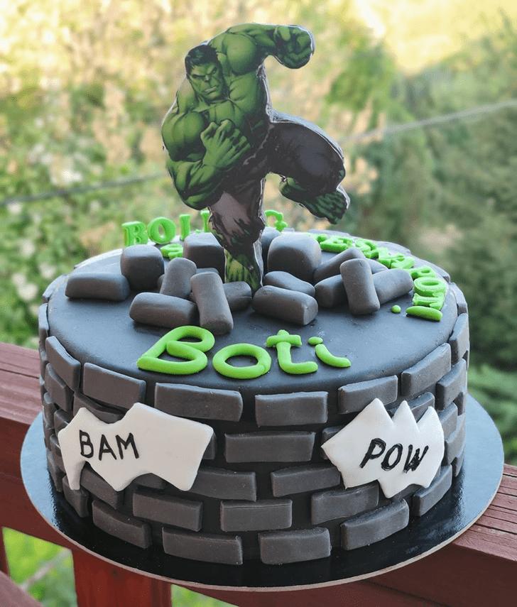 Appealing Hulk Cake