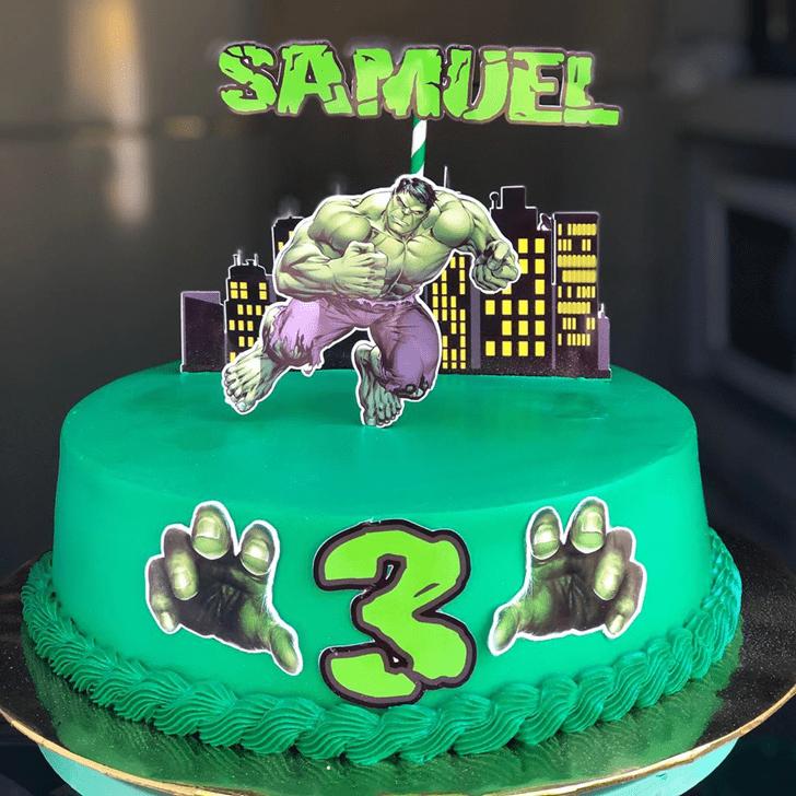 Beauteous Hulk Cake