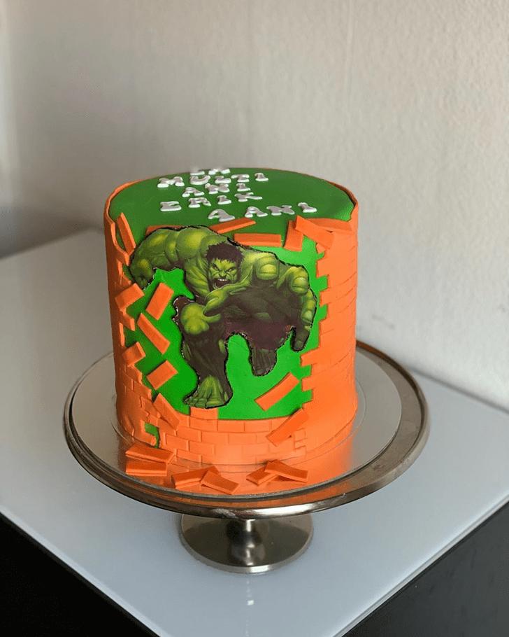 Captivating Hulk Cake