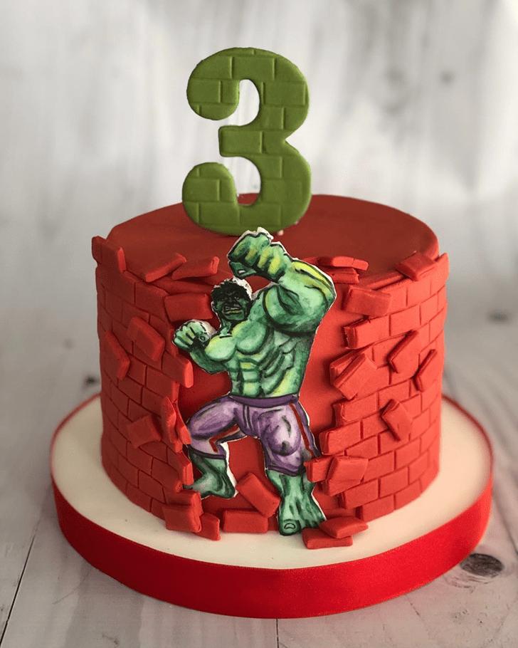 Charming Hulk Cake