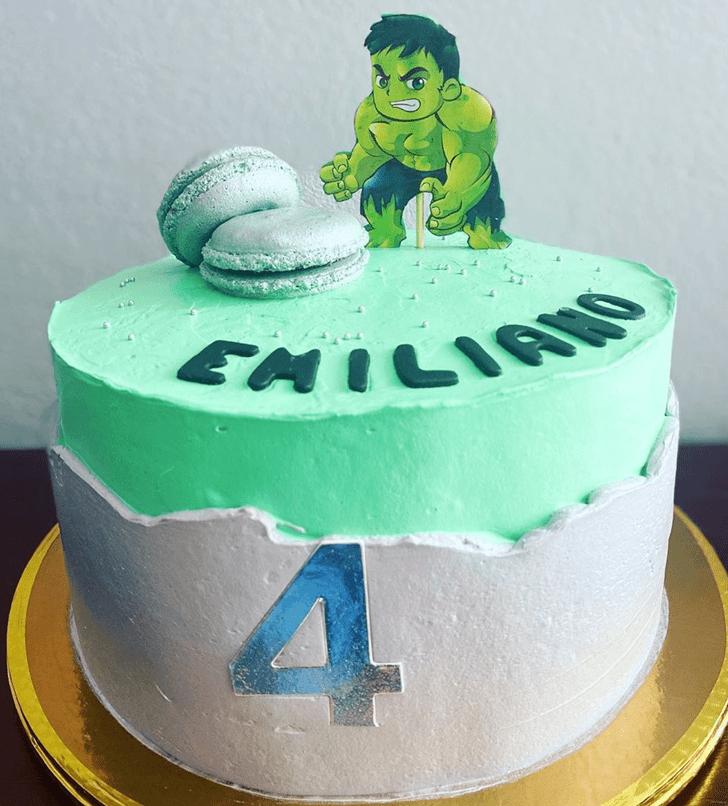 Cute Hulk Cake