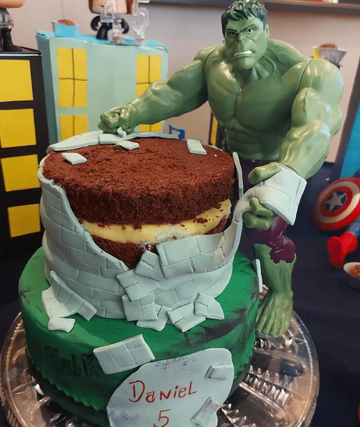 Dazzling Hulk Cake