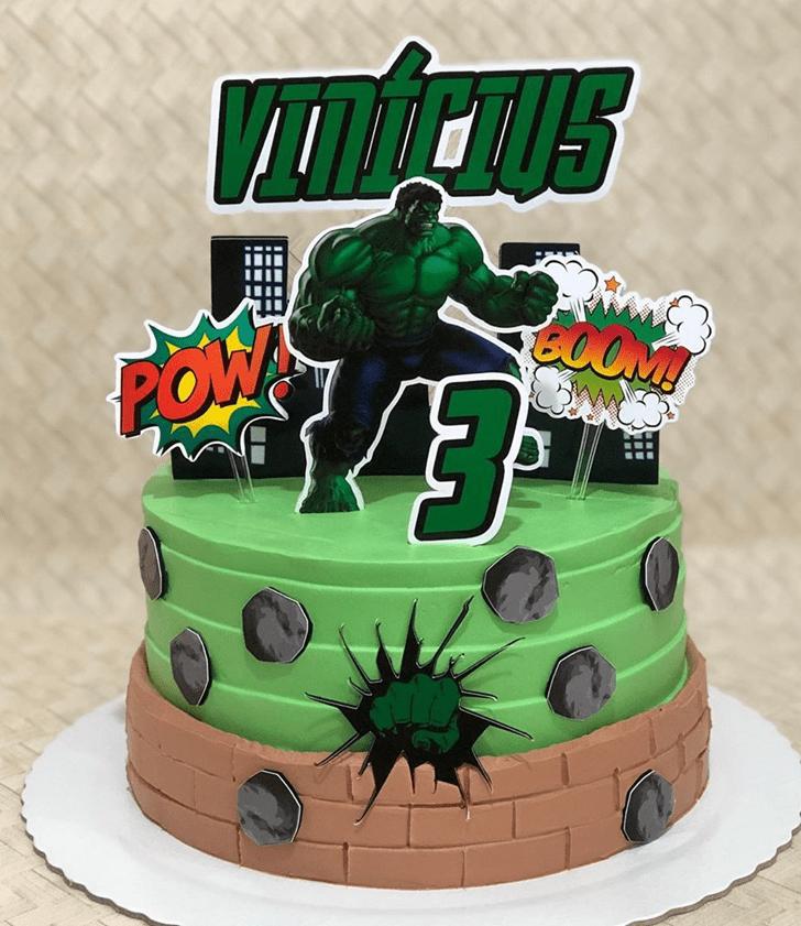 Delicate Hulk Cake
