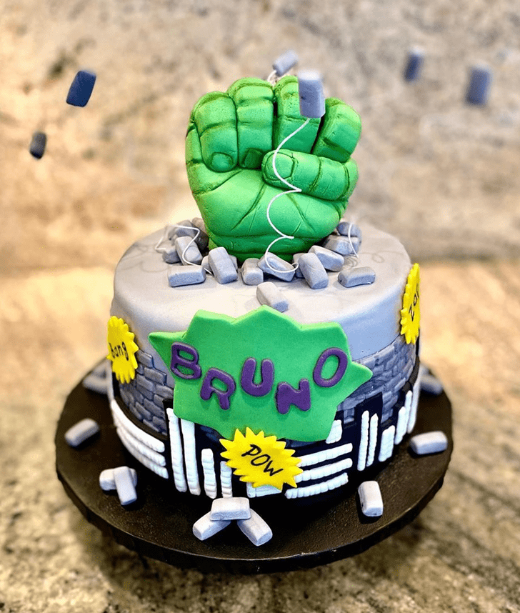 Delightful Hulk Cake