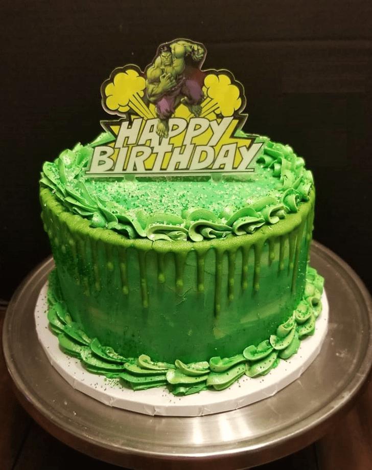 Enthralling Hulk Cake