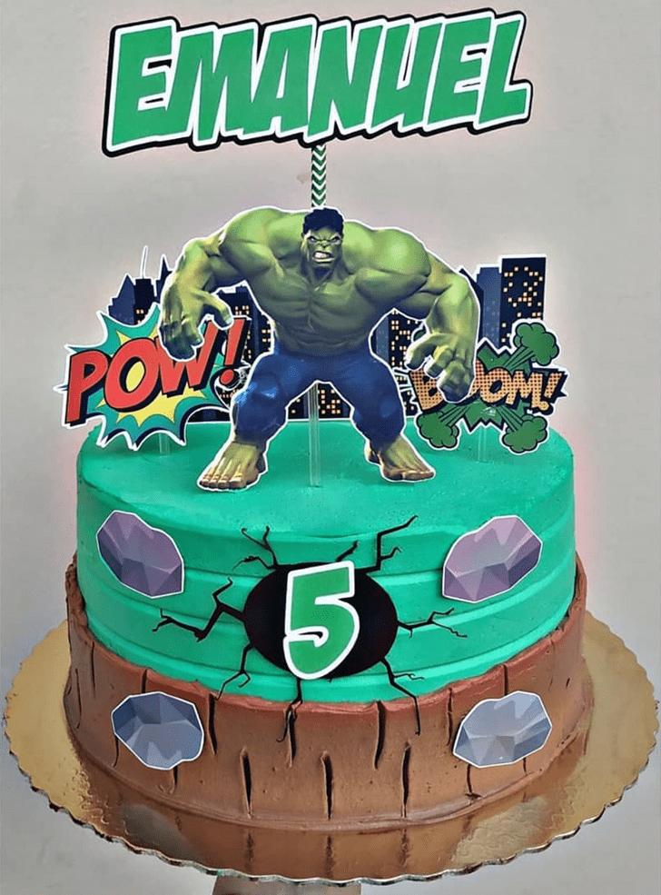 Enticing Hulk Cake