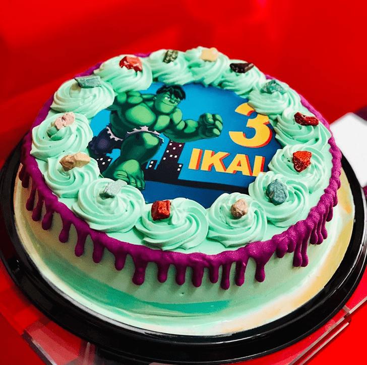 Excellent Hulk Cake