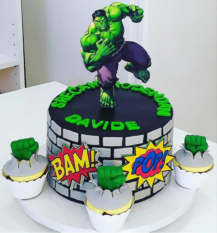 Good Looking Hulk Cake