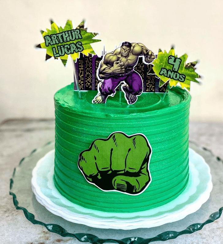 Inviting Hulk Cake