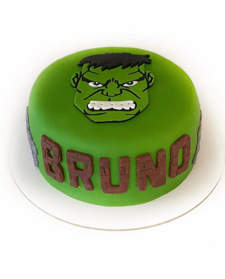 Magnificent Hulk Cake
