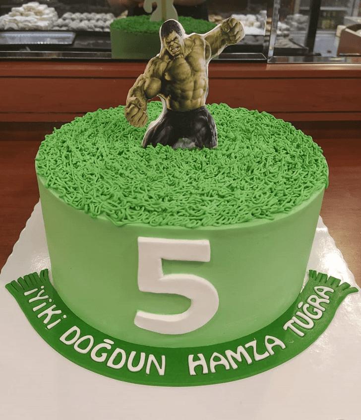 Mesmeric Hulk Cake