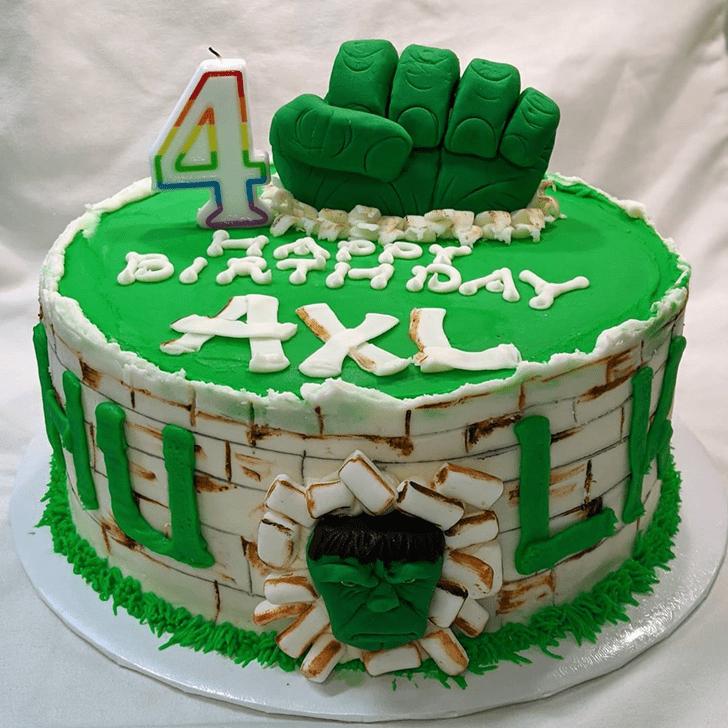 Refined Hulk Cake