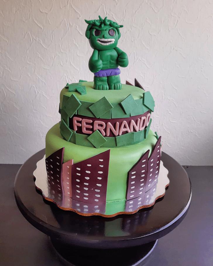 Resplendent Hulk Cake
