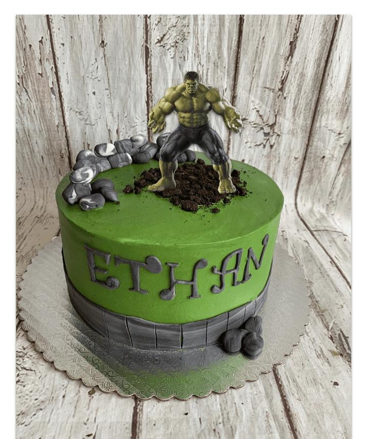 Shapely Hulk Cake