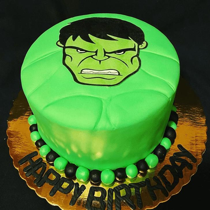 Slightly Hulk Cake