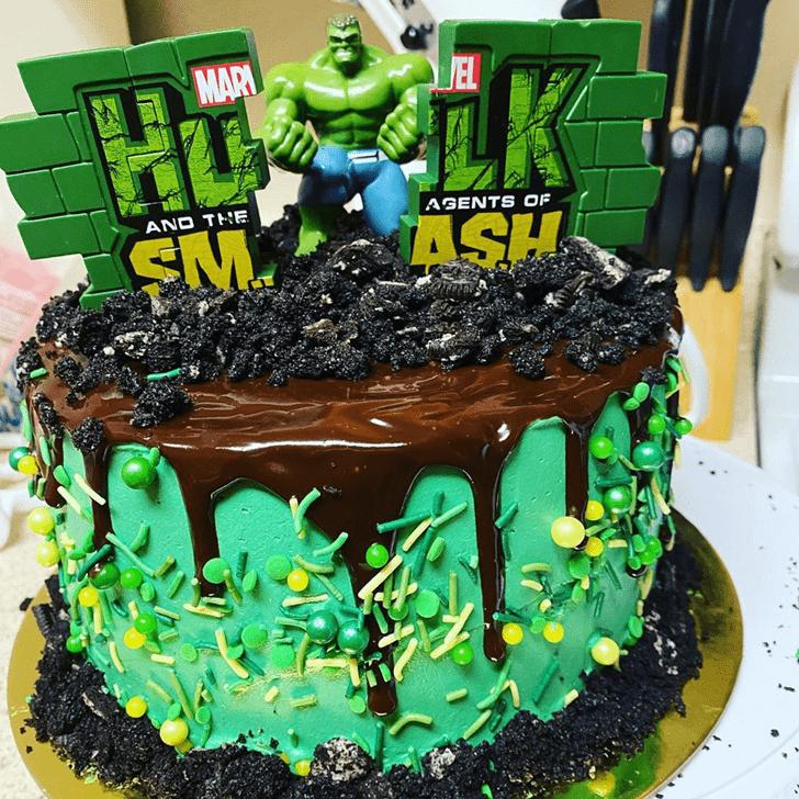 Stunning Hulk Cake
