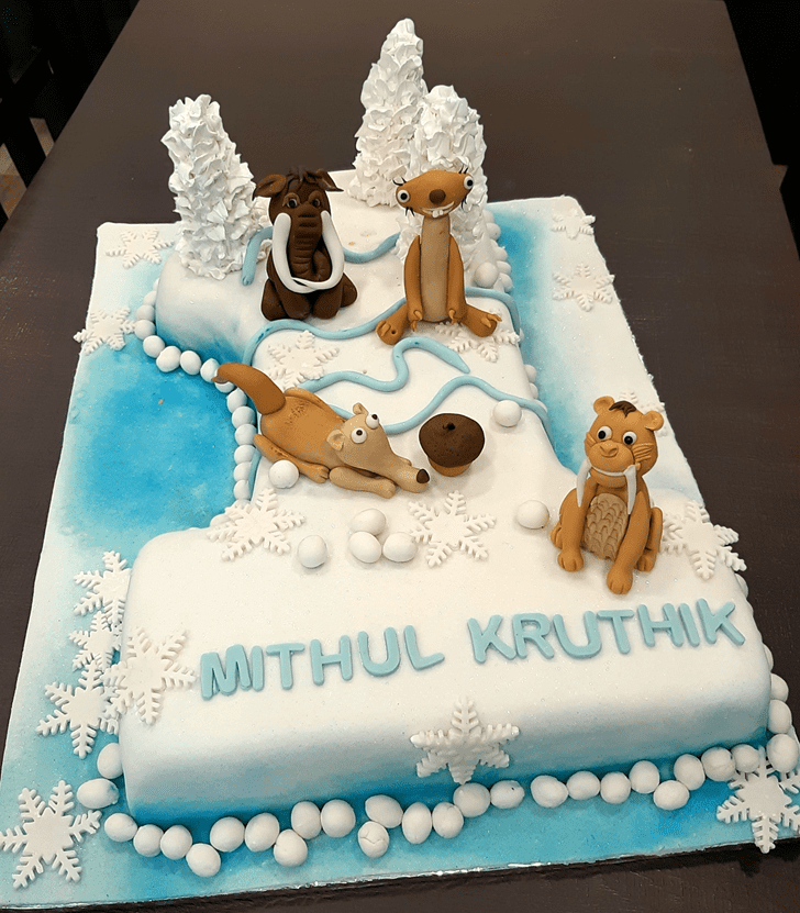 Classy Ice Age Cake