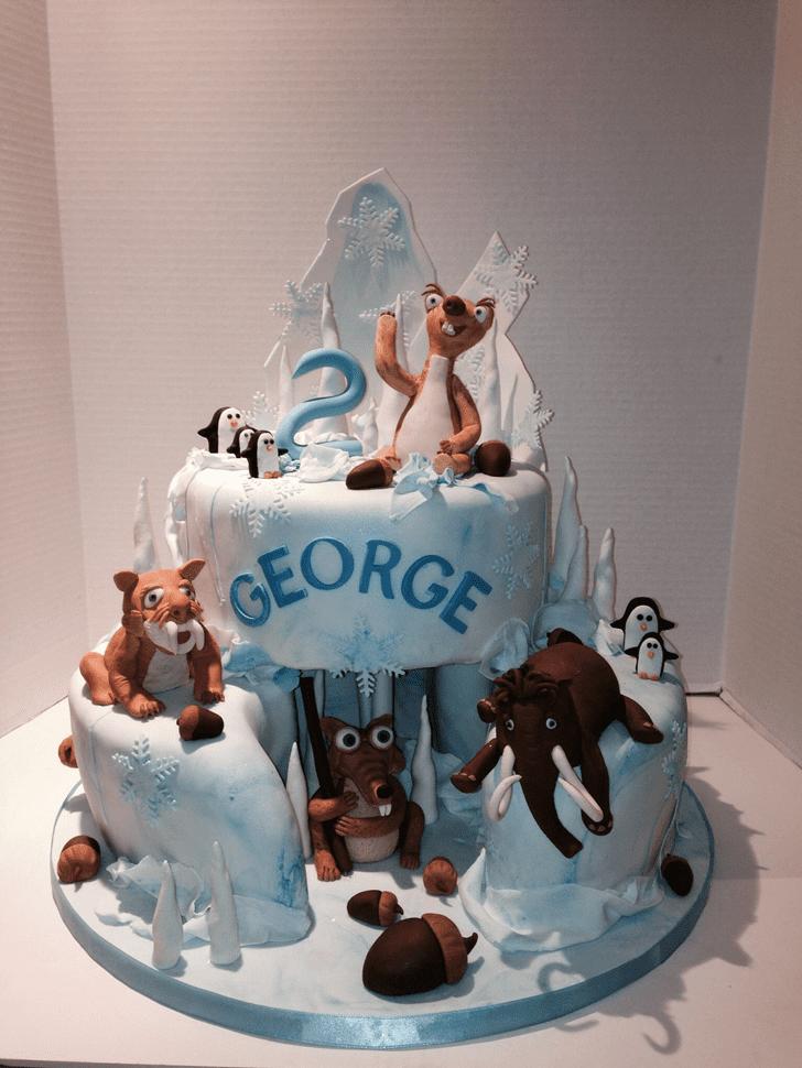Dazzling Ice Age Cake