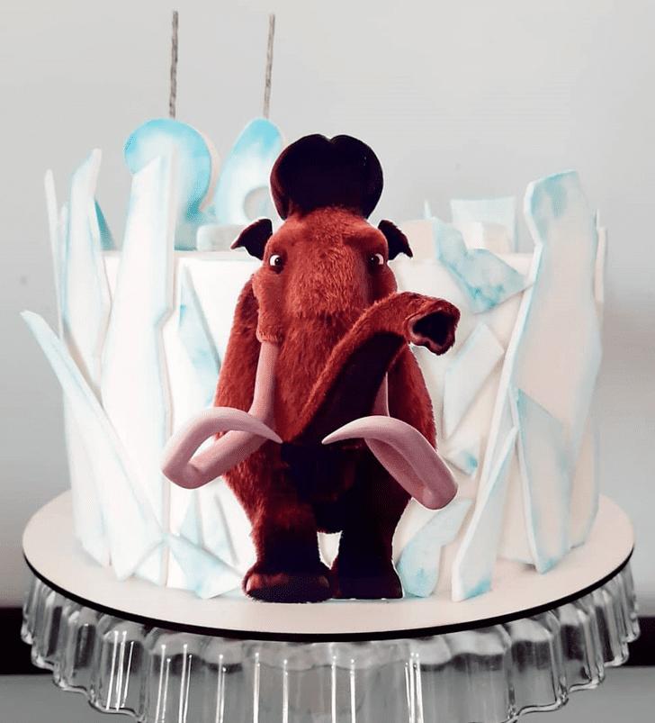Pretty Ice Age Cake