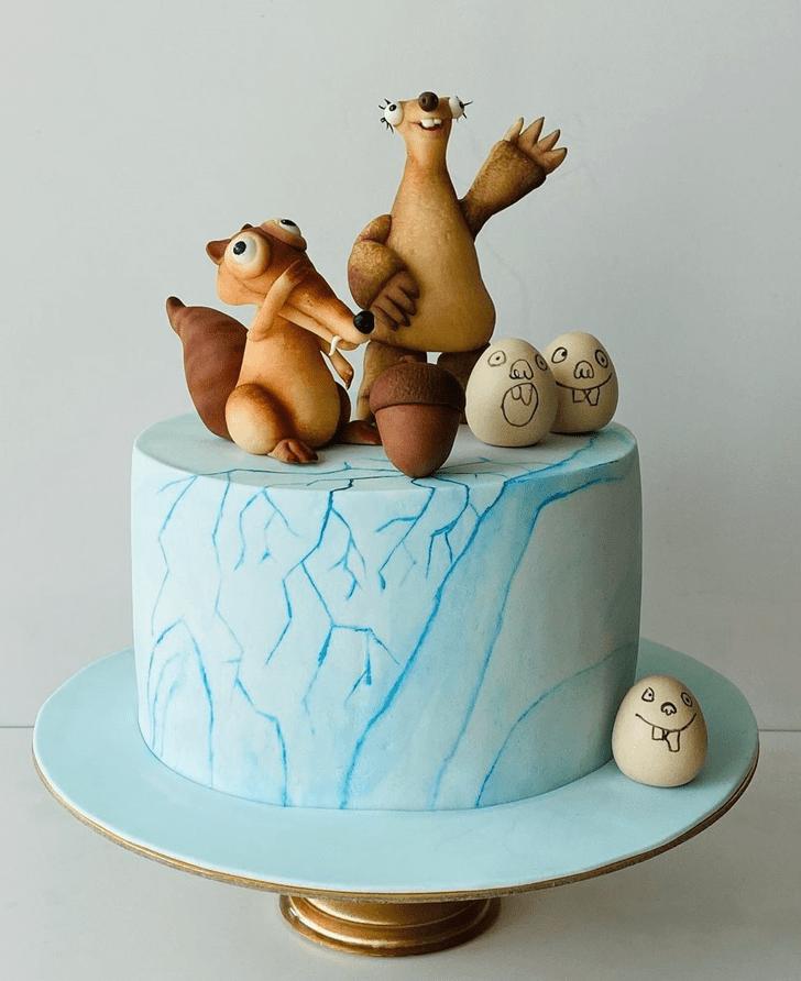 Radiant Ice Age Cake