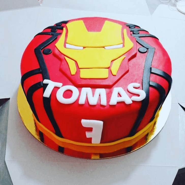Iron Man Mask Cake Design