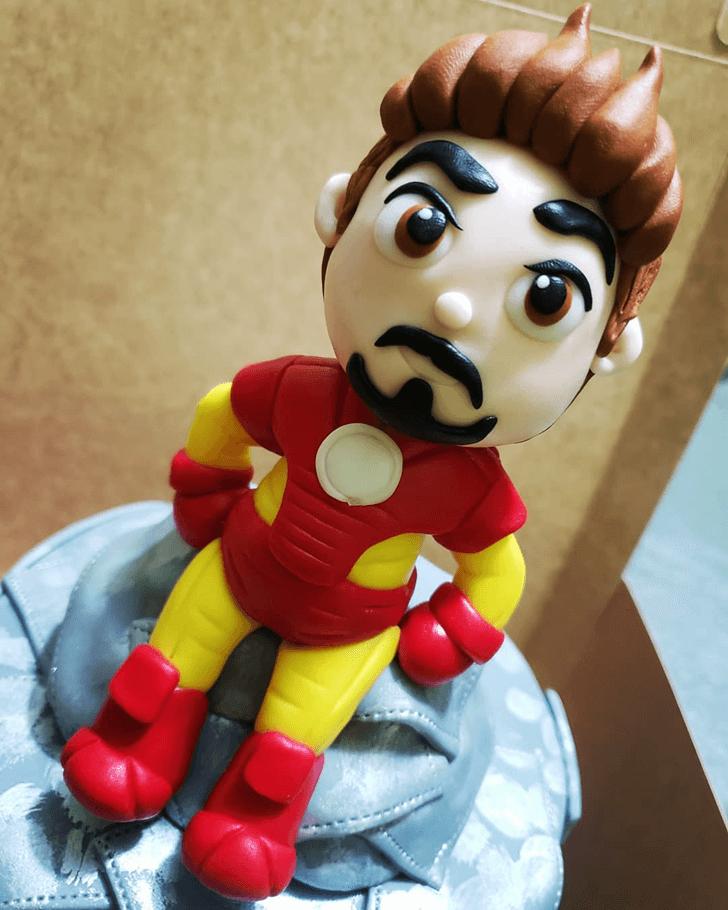Teasing Iron Man Cake
