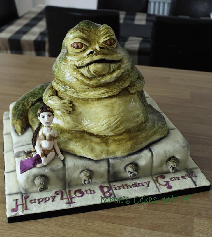 Alluring Jabba the Hutt Cake
