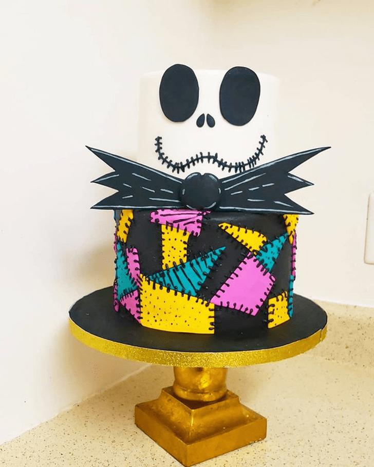 Alluring Jack Skellington Cake
