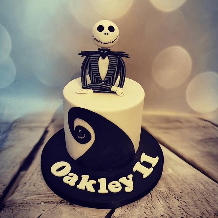 Charming Jack Skellington Cake