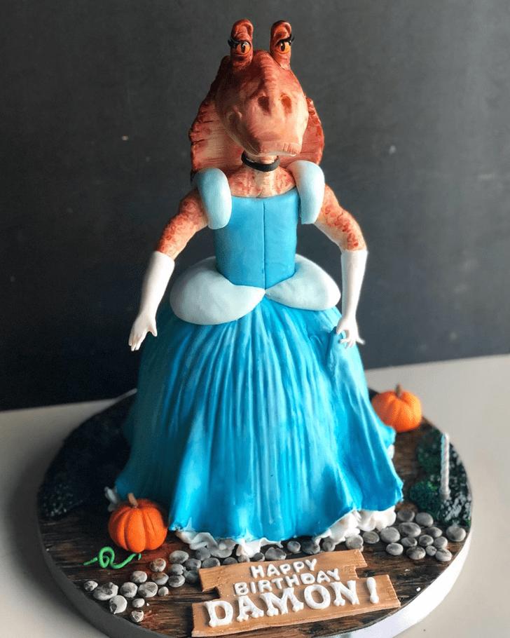 Appealing Jar Jar Binks Cake