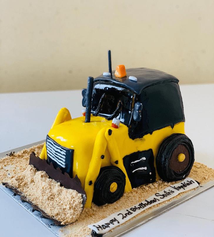 Beauteous JCB Cake