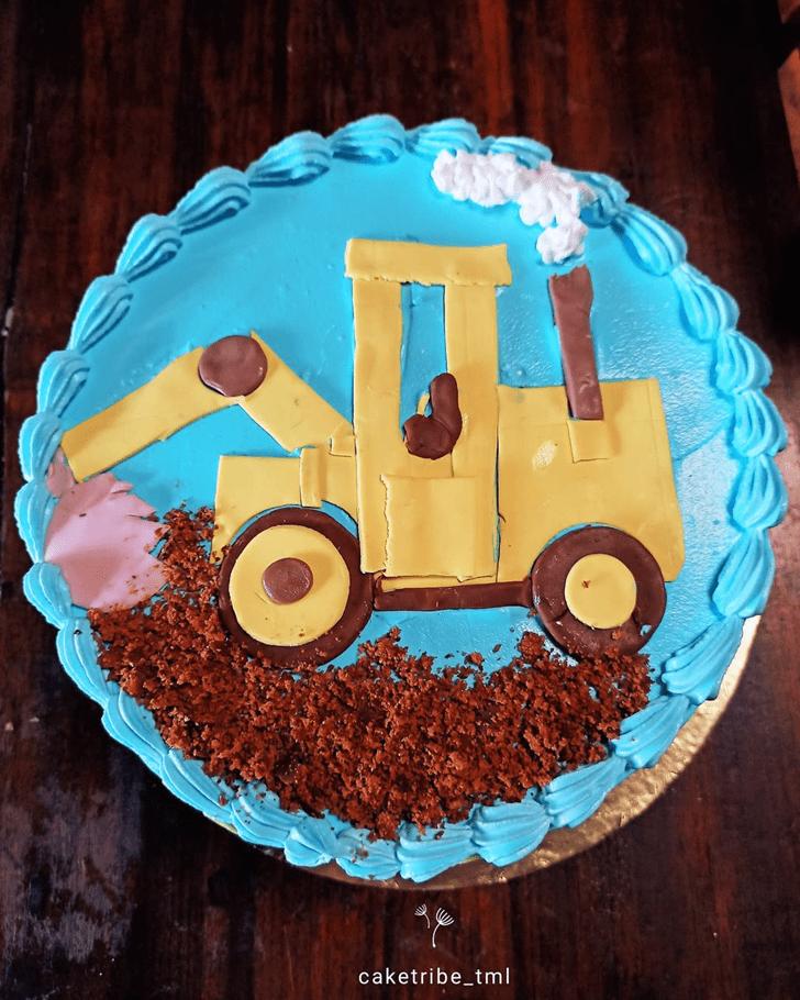 Comely JCB Cake