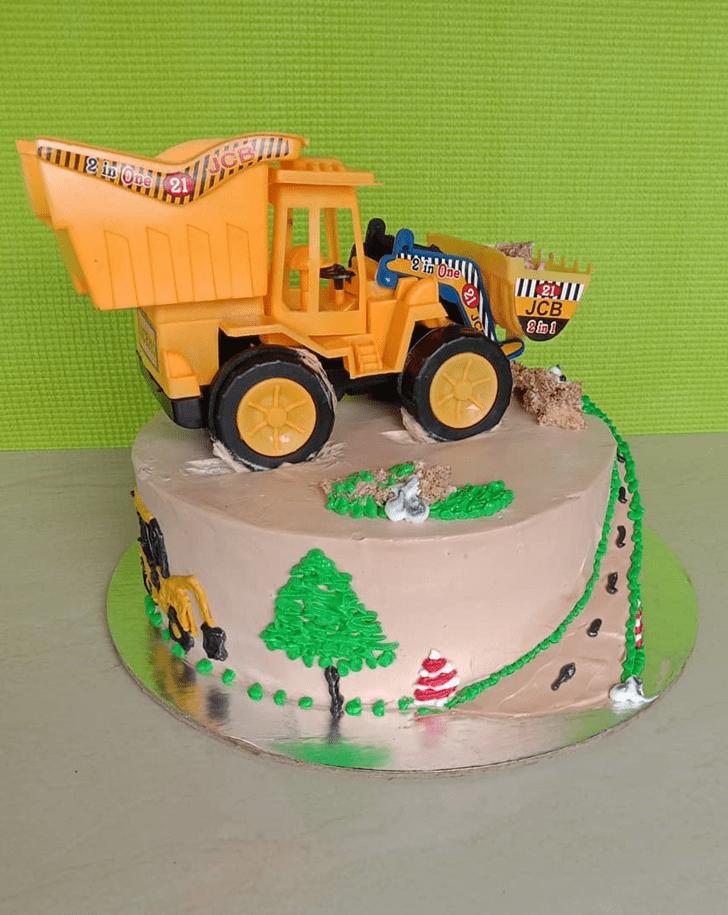 Exquisite JCB Cake