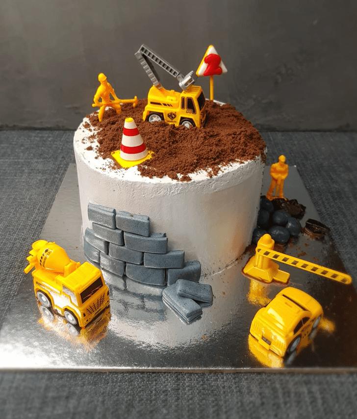 Graceful JCB Cake