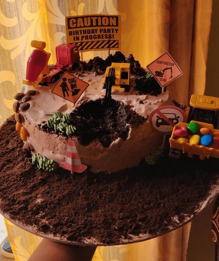 Inviting JCB Cake