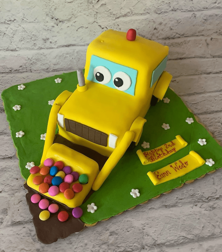 Lovely JCB Cake Design