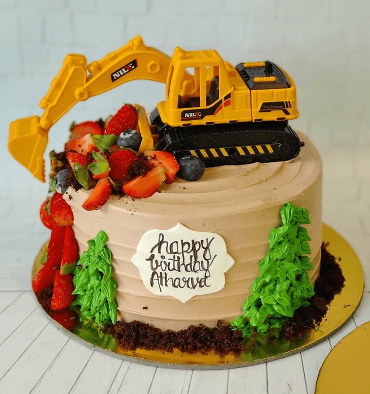 Radiant JCB Cake