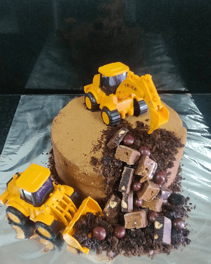 Shapely JCB Cake