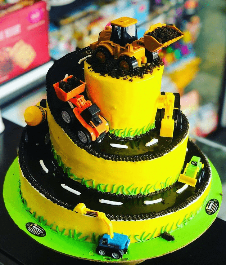 Wonderful JCB Cake Design