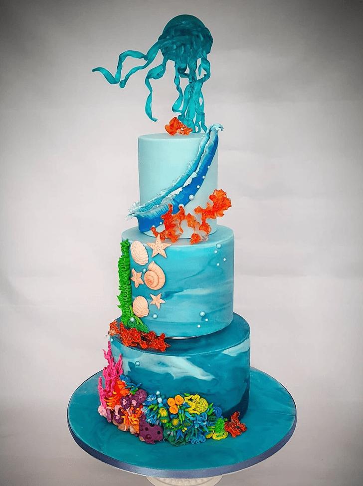 Pretty Jellyfish Cake