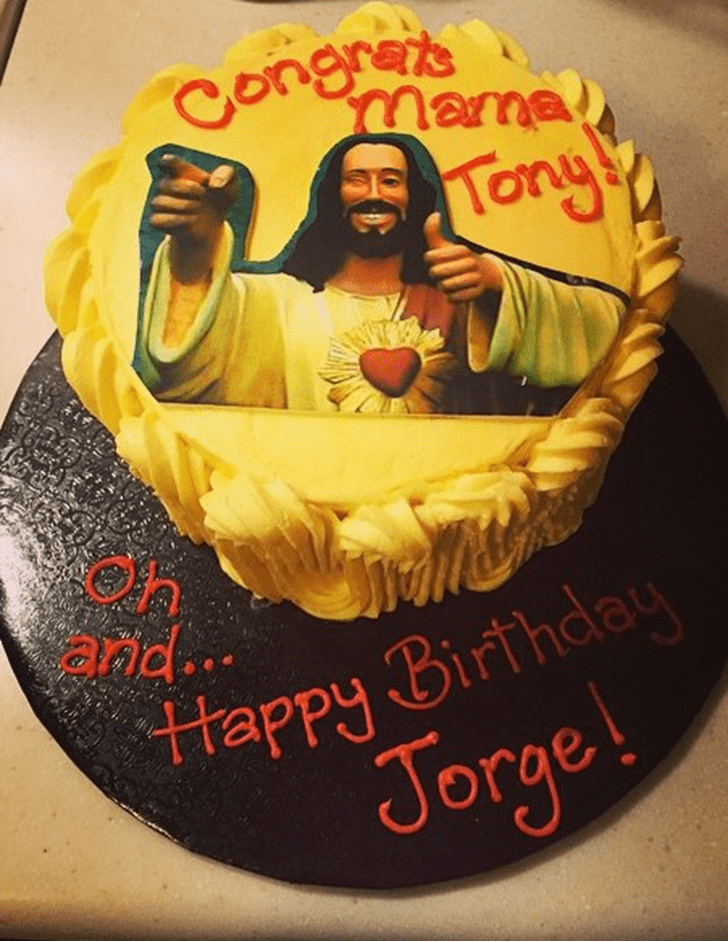 Adorable Jesus Cake