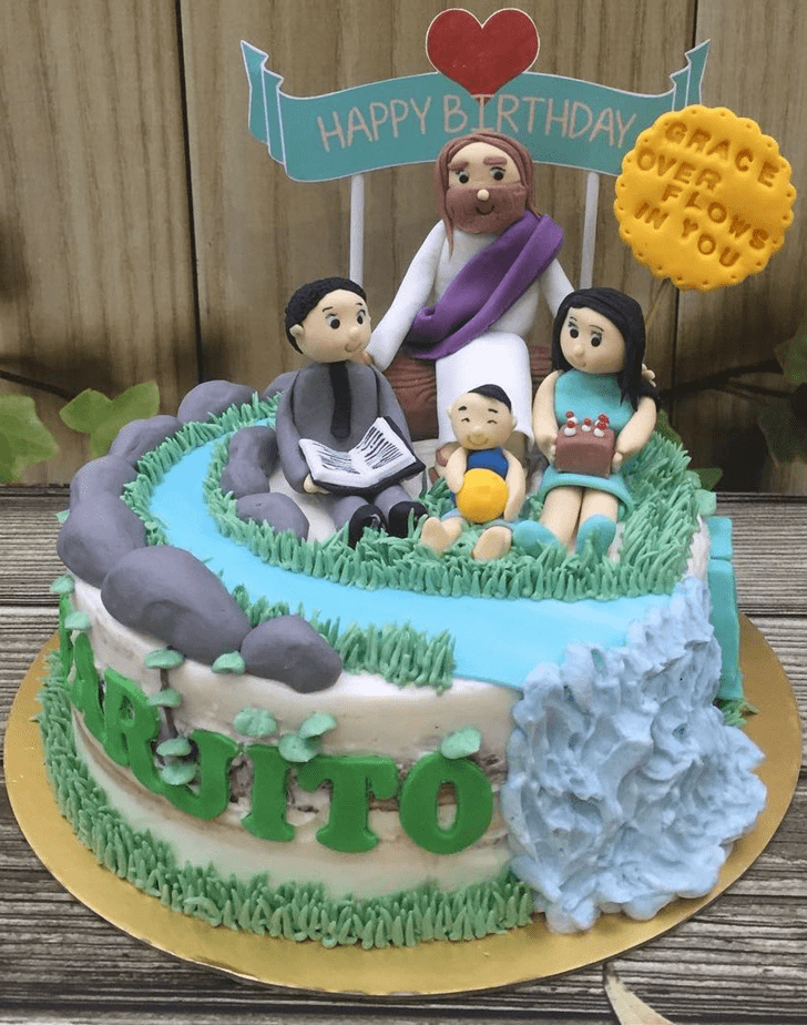 Captivating Jesus Cake